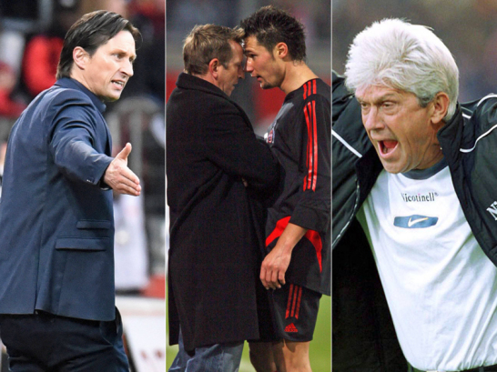 Roger Schmidt, Norbert Meier, Albert Streit und Werner Lorant.