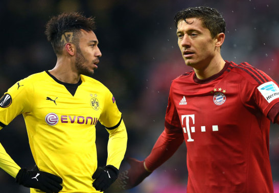 Pierre-Emerick Aubameyang und Robert Lewandowski (re.)