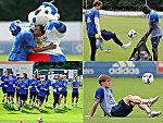 Mit Dino und viel Spaß - Trainingsstart des HSV