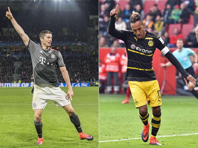Auba vs. Lewy: Das Duell der besten Ballermänner