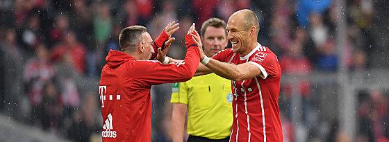 Franck Ribery, Arjen Robben (re.)