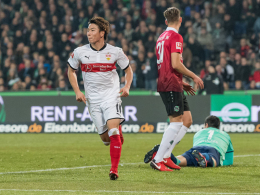Asano bringt dem VfB den ersten Auswärtspunkt