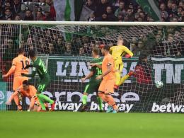 Werder hat vorne Alu-Pech und hinten Pavlenka