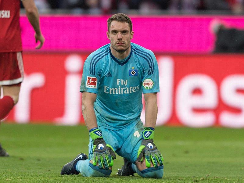 Hatte keinen schönen Nachmittag: HSV-Keeper Christian Mathenia.