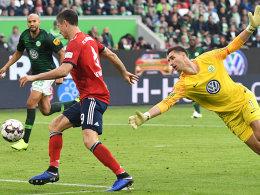 Trotz Unterzahl: Bayern siegt dank Lewandowski