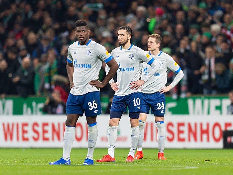 Enttäuscht: Breel Embolo, Nabil Bentaleb und Bastian Oczipka (v.l.).