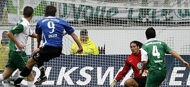Arminias Eigler zieht zum 2:0 ab
