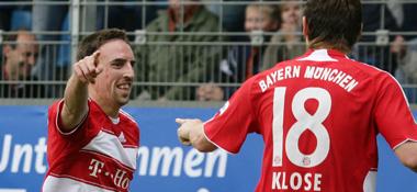 Franck Ribery und Miroslav Klose
