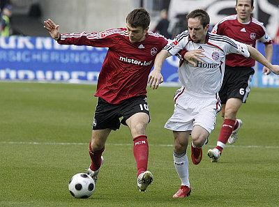 Misimovic (li.) gegen Ribery