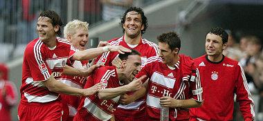 Die Bayern feiern Ribéry