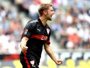 """""""The Hammer"""": Thomas Hitzlsperger brachte den VfB mit einem Distanzschuss in Führung."""