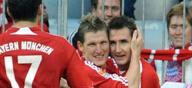 Bastian Schweinsteiger und Miroslav Klose