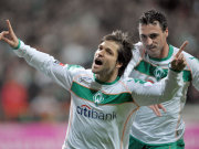 Bremer Torjubel mit Diego und Hugo Almeida