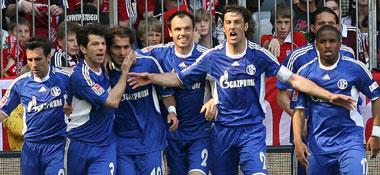 Schalker Jubel über das 1:0