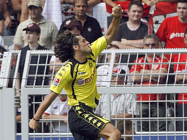 Valdez bejubelt sein 1:0.