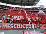 Beste Stimmung: Die Bayern-Fans feierten schon vor dem Anpfiff.
