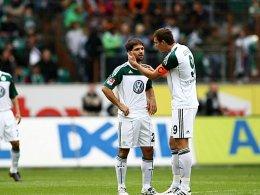 Spielentscheider: Diego und Dzeko setzten gegen Hannover die Akzente.