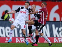 Christian Clemens (li.) gegen Mike Frantz