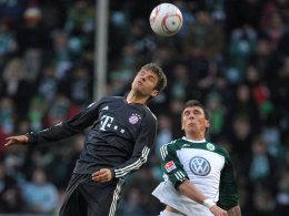 Müller (li.) vs. Mandzukic