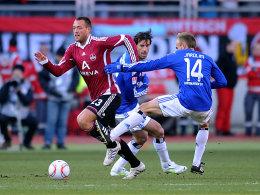 Julian Schieber, Ruud van Nistelrooy, David Jarolim (v.l.n.r.)