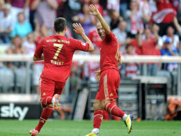 Franck Ribery (li.) und Arjen Robben