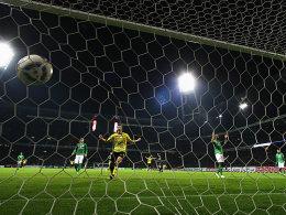 Dortmunds Perisic jubelt nach dem 1:0.