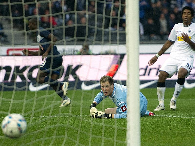 Das 1:0 für die Hertha: Ramos hat abgezogen, ter Stegen ist geschlagen.