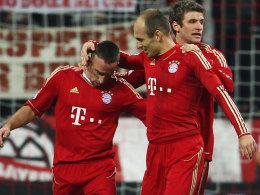 Ribery, Robben und Müller