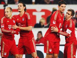 Robben, van Buyten, Gomez und Lahm