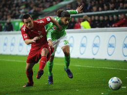 Rodriguez im Duell mit Clemens (li.)