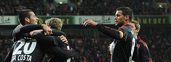 Jubel bei Bayer: Der Rückrundenstart ist mit einem Sieg gegen Mainz geglückt.