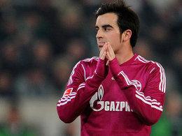 Schalkes Jurado ist sichtlich nicht begeistert vom Spielverlauf
