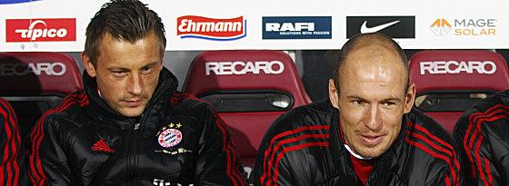 Bayerns Olic und Robben (re.).
