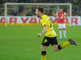 Blaszczykowski freut sich über sein soeben erzieltes 1:0