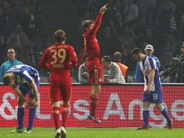 Müller bejubelt die frühe Führung
