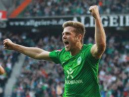 Erstes Spiel von Beginn an - erstes Tor für Werder Bremen: Füllkrug hatte genau Maß genommen.