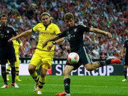 Münchens Müller gegen Dortmunds Schmelzer