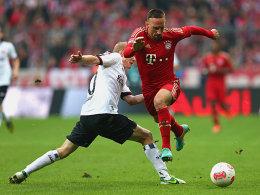 Sebastian Rode (li.), Franck Ribery