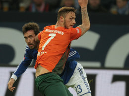 Schalkes Fuchs gegen Arnautovic (vorne)
