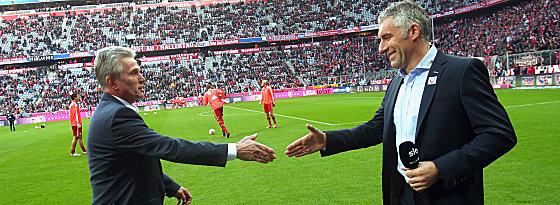 Jupp Heynckes, Mirko Slomka (v.li.)