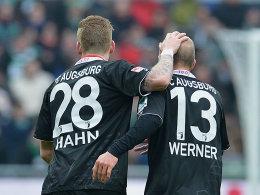 Hahn und Werner nach dem 1:0