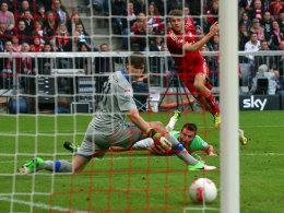 Müller erzielt das 1:1
