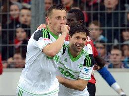 Ivica Olic, Diego (rechts, VfL Wolfsburg)