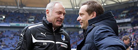 Andreas Müller, Horst Heldt (re.)