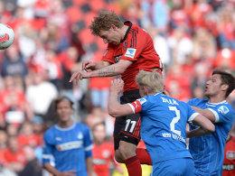 Kießling trifft zum 3:0 - Hoffenheim schaut zu.