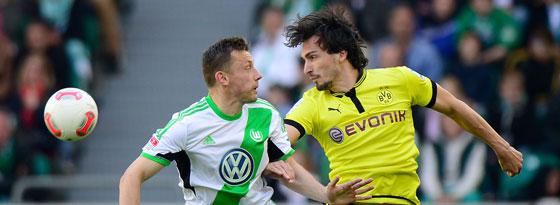Ivica Olic gegen Mats Hummels