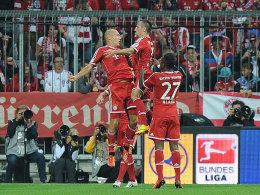 """Robben und Ribery im """"Luftduell"""""""