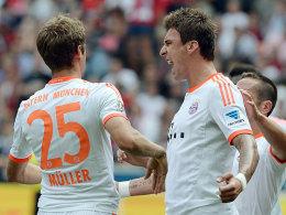 Müller (li.) und Mandzukic