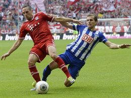 Franck Ribery (li.), Peter Pekarik