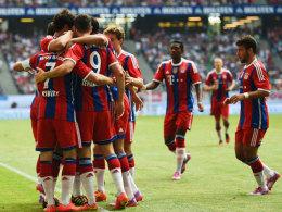 Hochüberlegener Meister: Der FC Bayern schlug den VfL Wolfsburg und sicherte sich den Telecom Cup.
